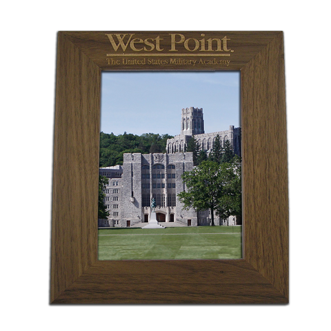 west point 8x10 walnut picture frame gift