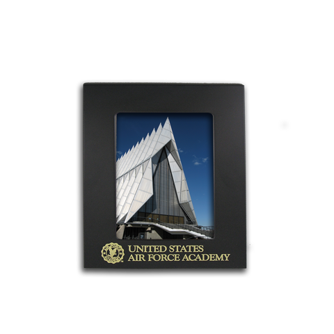 Air Force Academy 4x6 engraved black metal picture frame gift