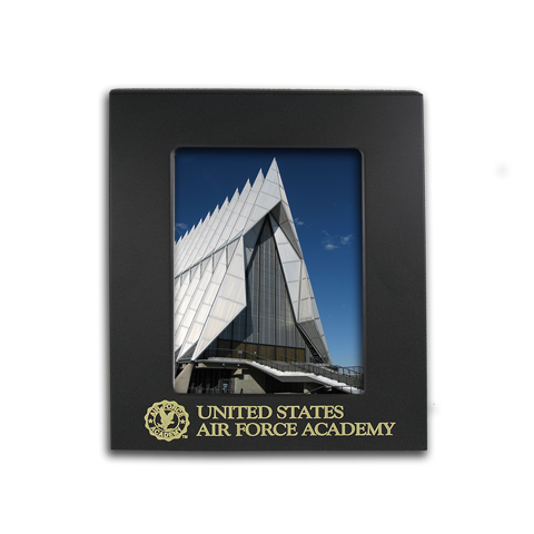 Air Force Academy 5x7 engraved black metal picture frame gift