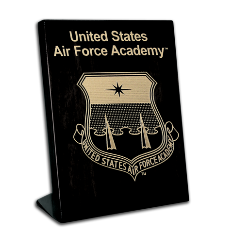 Air Force Academy Black Lacquer 7x9 stand-up plaque